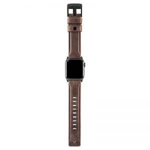 """UAG Apple Watch 44""""/42"""" Leather Strap- Brown"""