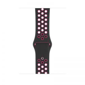 Apple 44mm Black:Pink Blast Nike Sport Band S:M & M:L - Black:Pink Blast_1_alpha store Online Shopping in kuwait