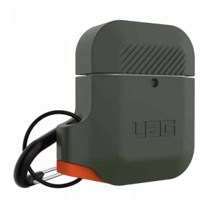 UAG Apple AirPods Silicone Case - Olive : Orange_2_alpha store online shopping in kuwait