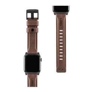"""UAG Apple Watch 40""""/38"""" Leather Strap- Brown_alphastore_kuwait"""