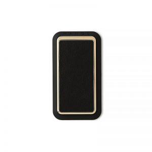 Handl Stick Smooth leather - Black Gold
