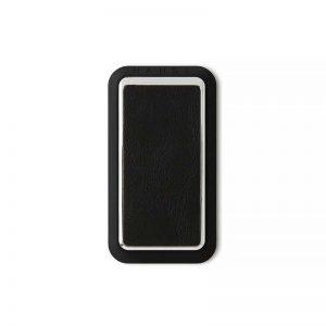 Handl stick Smooth leather -Black:Crome