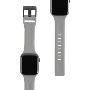 UAG Apple Watch 44mm/42mm Silicone Scout Strap (Silver)