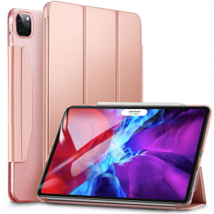 ESR iPad Pro 12.9 2020 Yippee Trifold with hasp - Rose Gold