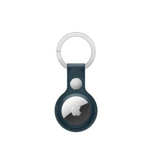 Wiwu Leather Key Ring Case For Apple Airtag -Blue