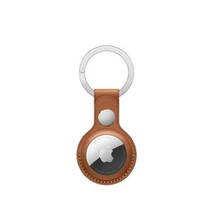 Wiwu Leather Key Ring Case For Apple Airtag -Brown