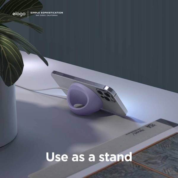 Elago Grip Stand for Magsafe (Compatible with Magsafe, iPhone 12) (Lavender)