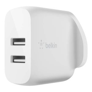 Belkin BOOST CHARG Dual USB-A Wall Charger 24W, White