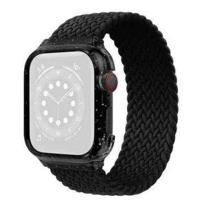 Wiwu Braided Watch Band For Apple Watch Series Se / 6 / 5 / 4 Lenth 155Mm -black