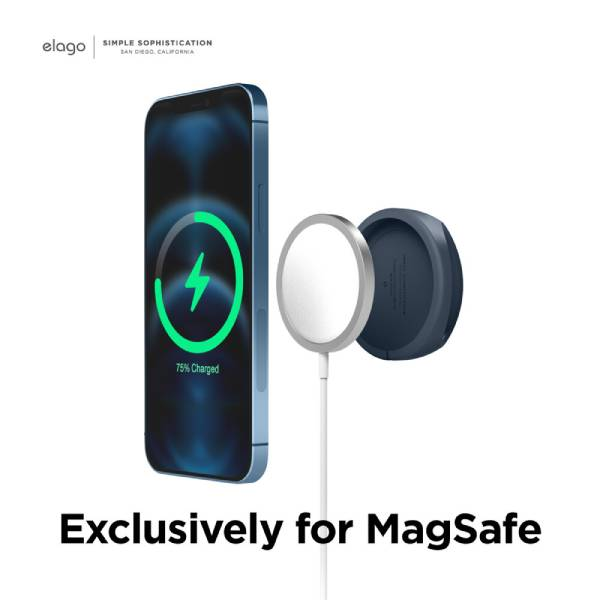 Elago Grip Stand for Magsafe (Compatible with Magsafe, iPhone 12) (Jean Indigo)