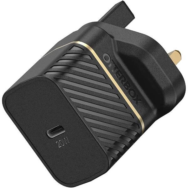 OtterBox UK Wall Charger 20W - 1X USB-C 20W USB-PD (Black)