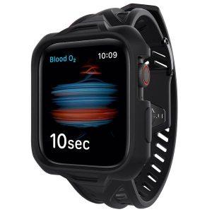Itskins Spectrum Combo Watch Belt And Bumper Case Set For Apple Watch Se / 6 / 5 / 4 - 40Mm 2M Antishock - Black 4894465576912