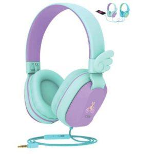 Riwbox CS6 Kids Wired Headphones Purple&Green