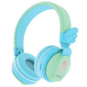 Riwbox Wings Foldable Headphones Wireless OnEar 85dB/103db Blue&Green