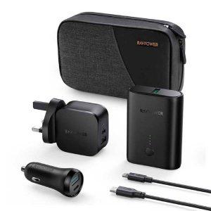 RAVPower RP-PB200 5-Pack Portable Charger Combo Black Offline
