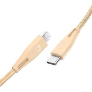 RAVPower RP-CB1004GLD 1.2m Type-C to Lightning Cable Nylon Gold Offline