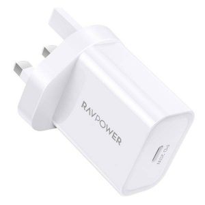 RAVPower RP-PC147 PD Pioneer 20W Wall Charger White UK offline