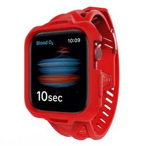 Itskins Spectrum Combo Watch Belt And Bumper Case Set For Apple Watch Se / 6 / 5 / 4 - 44Mm 2M Antishock - Red 4894465552763
