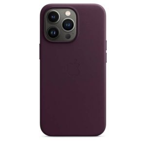 iPhone 13 Pro Max Leather Case with MagSafe - Dark Cherry