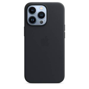 iPhone 13 Pro Max Leather Case with MagSafe - Midnight