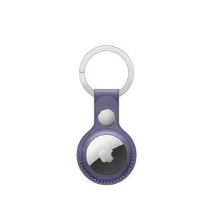 AirTag Leather Key Ring - Wisteria