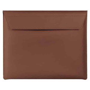 "Smart Premium Handcrafted Genuine Leather Sleeve- Brown for Macbook, iPad, Laptop upto 13.5"""