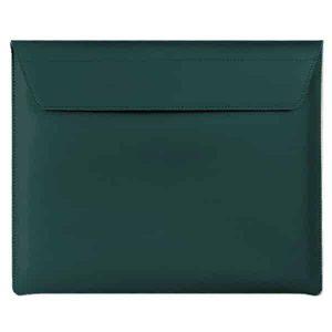 "Smart Premium Handcrafted Genuine Leather Sleeve- Green for Macbook, iPad, Laptop upto 13.5"""
