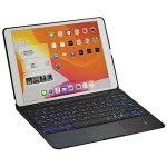 Smart iPad 10.2/10.5 inch BT keyboard (English & Arabic keys) Free combo offer with iPad 10.2 inch screen protector Black