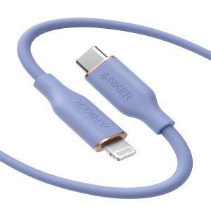 Anker PowerLine III Flow USB-C to Lightning (1.8m/6ft) -Purple