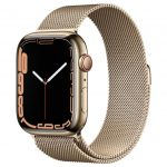 Watch S7 GPS Cellular 45mm Gold Stainless Steel Case -Gold Milanese Loop