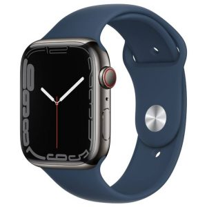 Watch S7 GPS Cellular 45mm Graphite Stainless Steel Case -Abyss Blue Sport Band