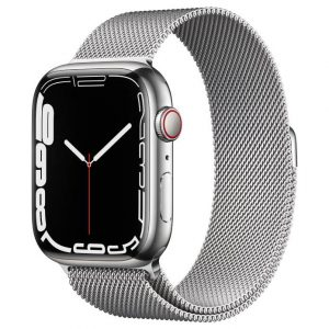 Watch S7 GPS Cellular 45mm Silver Stainless Steel Case -Silver Milanese Loop