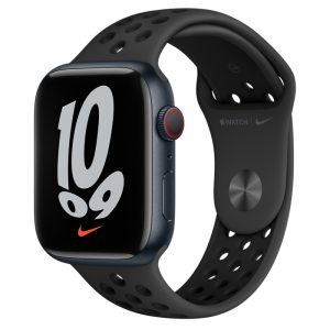 Watch Nike 7 GPS Cellular 45mm Midnight Alum Case - Anthracite/Black Nike Band
