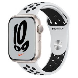 Watch Nike 7 GPS 41mm Starlight Alum Case - Pure Platinum/Black Nike Band